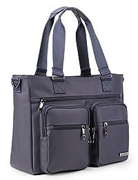 Crest Design 防水尼龙单肩包手提包平板电脑笔记本电脑手提包作为旅行工作和书包。 完美护理手提袋携带*用品,护理用品 均码