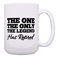退休礼物 The One Only Legend Has Retired 退休礼物咖啡杯茶杯 15 oz White