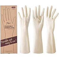 JOYECO 橡胶手套丁腈橡胶乳胶可重复使用厨房手套,可用洗碗机清洗(3 件装,中号)