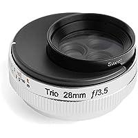 Lensbaby 定焦镜头 Trio 28毫米 F3.5 Sweet/Velvet/Twist切换式 手动对焦 银色