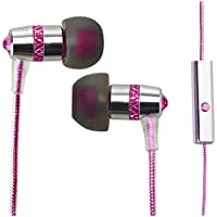 Crystal by MEE audio In-Ear Headphones with Microphone Made with Swarovski Crystals, Pink
