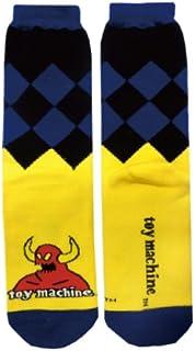 TOY MACHINE(TOY MACHINE)怪物短袜 黄色×蓝色 男式 约25~27cm TYSOC04