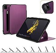 The Alpha Case - 2020 iPad Pro 11 英寸*二代(新型号) - 非常保护但薄 + 方便的磁性支架+*/唤醒盖 - ZUGU 保护套 紫色