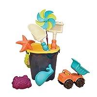 B.Toys 比乐 中桶沙滩玩具套装 儿童挖沙玩水玩具 海军蓝  婴幼儿童益智玩具 礼物 BX1330Z(适用年龄:18个月-8岁)