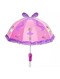 kidorable 热销美亚的儿童男女卡通伞 宝宝创意长柄可爱小学生伞 每个人童年记忆中都会有把小童伞 他是童年的小伙伴 是一份纯真的感情 (芭蕾)