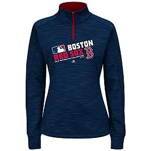 Majestic 女式大款 MLB 球队选择羊毛连帽衫(加大 4X 码,波士顿红袜队)
