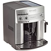 De'Longhi 德龙 Magnifica ESAM 3200 S全自动咖啡机(带直选键的控制面板,牛奶起泡喷嘴,13层锥磨机,可拆卸萃取机芯,2杯功能)银色