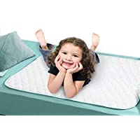 ProCare *吸水防水床墊 - 床墊床單保護套 - 可吸收 6 杯液體 - 34 x 36 英寸 - 2 只裝