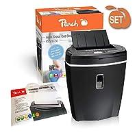 Peach PS500-50 顆粒切割碎紙機和服務套件(油紙)6 / 80 頁 | 21 L | P-4 | 碎紙紙、信用卡| 自動進紙 | 無需紙張 | 節省時間