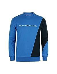 Tommy Hilfiger 男式长袖现代必备休闲圆领运动衫上衣