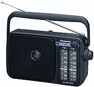 Panasonic 松下 2400DEB-K 便携式收音机 AM / FM,AC 或 DC 操作,黑色