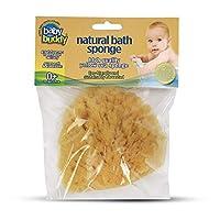 Baby Buddy 天然婴儿沐浴海绵 4 英寸(约 10.2 厘米)柔软黄海绵柔软呵护婴儿皮肤,可生物降解 黄色 1件