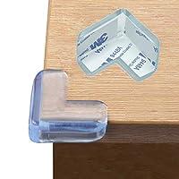 边角保护,婴儿防护角落透明边缘保护,预胶带粘合剂,儿童*,儿童桌柜家具保险杠 Transparent 24Packs 0.8 Inch (Thickness)