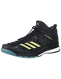 adidas 男士 Crazyflight X 中帮排球鞋