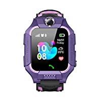 Happy Cherry 兒童 IP67 防水智能手表手機 LBS AGPS 追蹤器 1.44 高清觸摸屏腕表 帶 SOS 相機游戲,適合 3-12 歲兒童 紫色 19081515085302070188