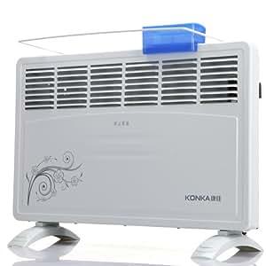 康佳(KONKA)超宽六孔欧式快热炉取暖器KH-DL22B(即开即热,居浴两用,防跌倒开关,壁挂、立式两用)(配烘衣架、加湿盒滋润取暖)厂商直送(供应商直送)