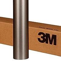 3M 1080 BR230 拉丝钛汽车乙烯基膜 5ft x 2ft (10 Sq/ft) 灰色 1080-BR230