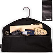 Stash-it 防盗挂钩,隐藏口袋*,适合悬挂下衣服,带口袋,隐藏贵重物品,适合居家或旅行,附赠防臭袋