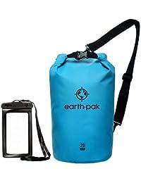 Earth Pak – 防水防水防水包 – 卷顶干燥压缩袋可保持皮划艇、海滩、漂流、划船、徒步、露营和钓鱼的装备干燥
