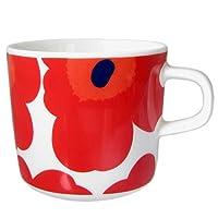 Marimekko UNIKKO系列 馬克杯 白色與紅色 200毫升 63429 001