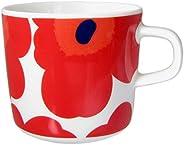 Marimekko UNIKKO系列 马克杯 白色与红色 200毫升 63429 001