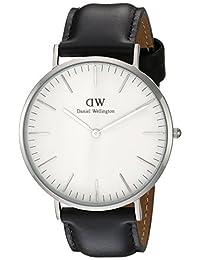 Daniel Wellington 丹尼尔•惠灵顿 瑞典品牌 Classic系列 银色表圈表扣 石英手表 男士腕表 DW00100020(原型号0206DW)
