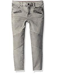 Calvin Klein 女童拉链终极修身牛仔裤