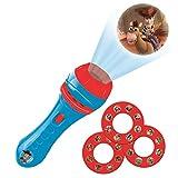 LEXIBOOK 玩具手电筒灯和投影仪,带 3 个光盘,24 张图片,创建您自己的故事,LTC050TS