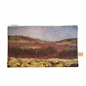 "KESS InHouse Cyndi Steen ""黄色野外""棕色绿色整装袋,21.59 cm x 15.24 cm (CS2002AEP01)"