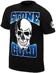WWE 正品 Wear 石 COLD Steve AUSTIN stomping mudholes 正品 T 恤 黑色 Large