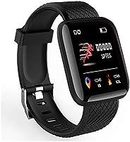 智能手环和健身追踪器,内置心率监测器,计步器,手表搜索功能、闹钟、消息通知和远程蓝牙图片拍摄,IP45 防水等级