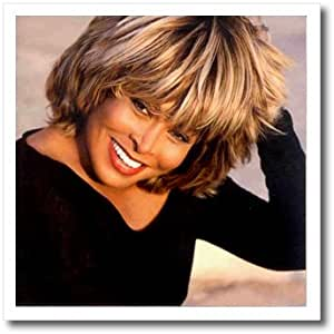 3dRose ht_3900_2 Tina Turner-Iron on Heat Transfer for Material, 6 by 6-Inch, White