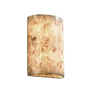 justice Design GROUP 照明 alr-8858-led2–2000ADA 大圆筒壁灯(无金属 ) LED ,雪花石膏岩石 需配变压器