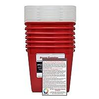 BULK Sharps 容器 2 加仑 - Plus Vakly 生物危害处理指南(6 件装)