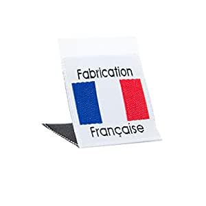 Wunderlabel 法国国旗编织标签服装缝制服装面料面料丝带标签 Blue, Red and Black on White 50 Labels