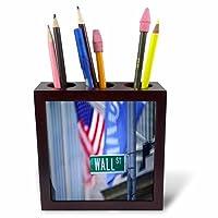 3dRose LLC ph_50955_1 Wall Street 5-Inch Tile Pen Holder