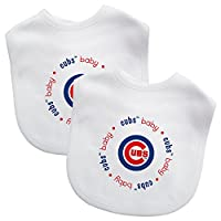 Baby Fanatic 白色围嘴,MLB 2 只装婴儿围嘴 芝加哥小熊队