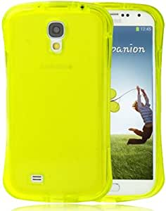 JUJEO Waistline Style Pure Color Translucent TPU Case for Samsung Galaxy S IV/I9500 - Non-Retail Packaging - Yellow