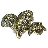Magic&shell 家具边角保护器 12 件 28x23 毫米青铜塑料古董大象底座脚角保护器复古珠宝胸盒礼品盒木盒