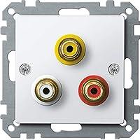 Merten System M MEG4351 0319 音频/视频接头插座,极地白色光面,系统 M