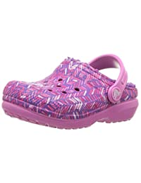 Crocs 中性 儿童 经典内衬 图形洞鞋