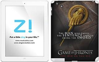 Zing Revolution Game of Thrones Premium Vinyl Adhesive Skin for iPad 2/iPad, Hand of the King Image, MS-GOT230351