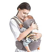 Kidshome 四合一婴儿背带时尚符合人体工程学的前向婴儿背带背包,可拆卸 4 个*舒适的位置 适合 0-3 岁的婴儿 灰色