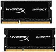 Kingston Technology金士顿科技HyperX Impact DDR3L CL9 SODIMM 1.35V笔记本内存条HX316LS9IB-p 黑色 16 GB kit