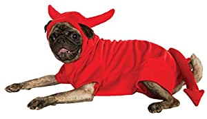 Rubie ' s 宠物服装 Fleece Devil Dawg Costume Hoodie X大码