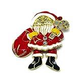 圣诞胸针圣诞老人珠宝高级珐琅别针泰国手工制作优雅纪念品系列圣诞装饰品Pins017