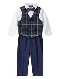 IZOD 男婴 4 件套,搭配衬衫、裤子、领结和背心
