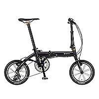 RENAULT(雷诺) ULTRA LIGHT7 TRY 143 黑色 14英寸 超轻铝框 7.3千克 超小巧 折叠自行车 外装3档变速 61210-01