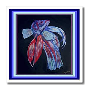 ht_48490 Taiche - Acrylic Painting - Fish - Siamese Fighting Fish- siamese fighting fish, betta, freshwater fish, tropical fish, fish - Iron on Heat Transfers