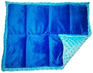 """加重垫/加重膝毛毯 7 lbs & W 24"""" x H 18"""" 正蓝色"""